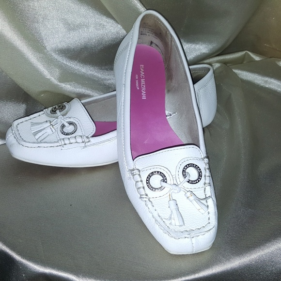 d1933a41f101 Isaac Mizrahi Shoes - Isaac Mizrahi GAIL White Leather Slip on shoes 8